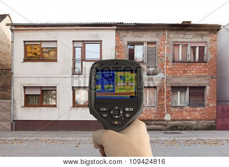 Heat Loss Comparison with Infrared Camera