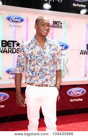 LOS ANGELES - JUN 29:  B.J. Britt at the 2014 BET Awards - Arrivals at the Nokia Theater at LA Live on June 29, 2014 in Los Angeles, CA
