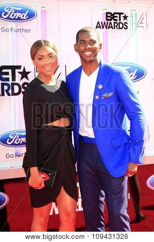 LOS ANGELES - JUN 29:  Chris Paul at the 2014 BET Awards - Arrivals at the Nokia Theater at LA Live on June 29, 2014 in Los Angeles, CA