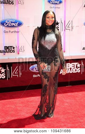 LOS ANGELES - JUN 29:  Erica Hubbard at the 2014 BET Awards - Arrivals at the Nokia Theater at LA Live on June 29, 2014 in Los Angeles, CA