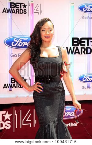 LOS ANGELES - JUN 29:  Jennia Fredrique at the 2014 BET Awards - Arrivals at the Nokia Theater at LA Live on June 29, 2014 in Los Angeles, CA