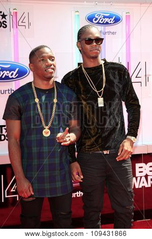 LOS ANGELES - JUN 29:  Karl 'Konan' Wilson, Casyo 'Krept' Johnson at the 2014 BET Awards - Arrivals at the Nokia Theater at LA Live on June 29, 2014 in Los Angeles, CA