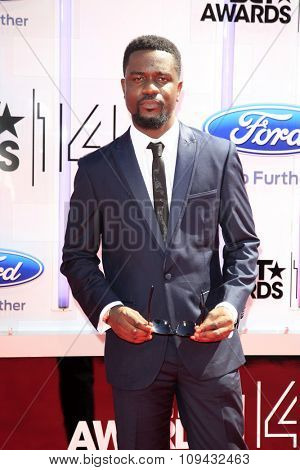 LOS ANGELES - JUN 29:  Sarkodie at the 2014 BET Awards - Arrivals at the Nokia Theater at LA Live on June 29, 2014 in Los Angeles, CA