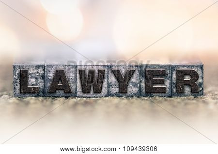 Lawyer Concept Vintage Letterpress Type