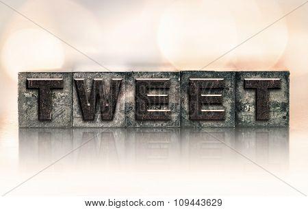 Tweet Concept Vintage Letterpress Type