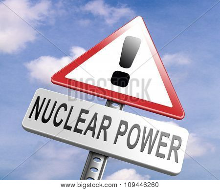 no nuclear power stop radio activity radio active waste from nuclear power plant danger of radiation and risk of contamination by gamma radiation