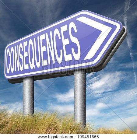 consequences facing facts and accept consequence of acts take and face responsibilities  poster