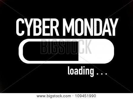 Progress Bar Loading with the text: Cyber Monday poster