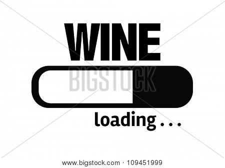 Progress Bar Loading with the text: Wine