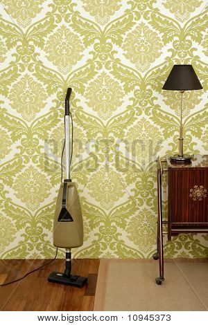 Retro Vacuum Cleaner Vintage Sixties Wallpaper