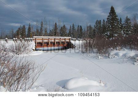 Wooden Bridge Over Snowy River