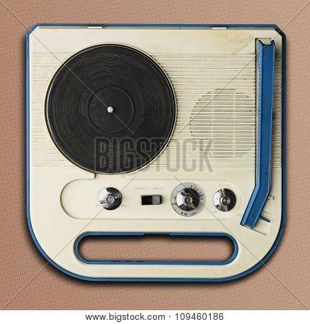 plastic sixties record player