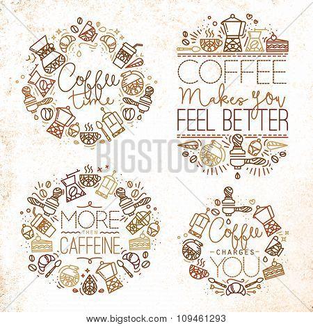 Coffee Monograms Brown
