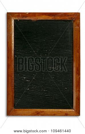 old blackboard w/soft shadow and space for writing
