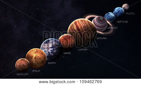 Hight quality solar system planets. Elements of this image furnished by NASA poster