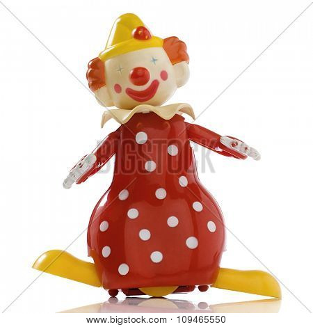 a vintage windup toy clown