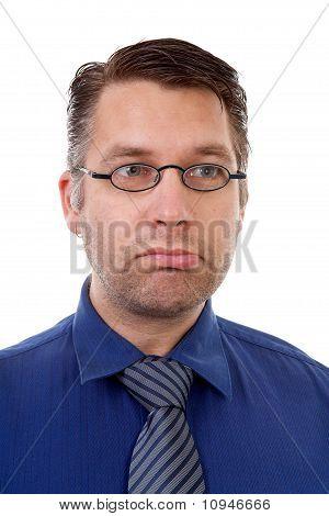 Portrait Of Male Nerdy Geek Making Funny Face