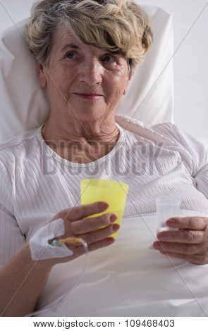 Hospice Patient Taking Painkillers