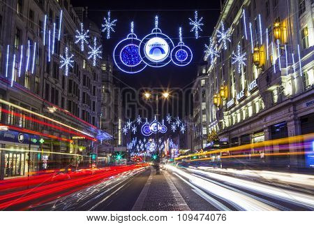 Strand Christmas Lights In London