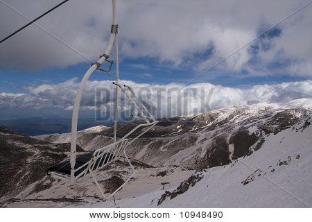 Ski lift on Parnassos mountain