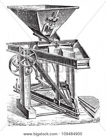 Purifier perfected by Mr. Josse Hignette, vintage engraved illustration. Industrial encyclopedia E.-O. Lami - 1875.