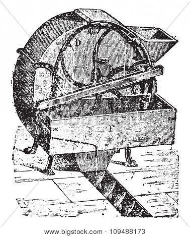 Automatic dampener, vintage engraved illustration. Industrial encyclopedia E.-O. Lami - 1875.