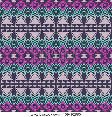 Vector Seamless Texture. Ethnic Tribal Geometric Pattern. Aztec Ornamental Style