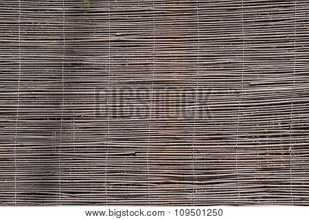 Curtain Or Screen From A Reed Of Natural Color