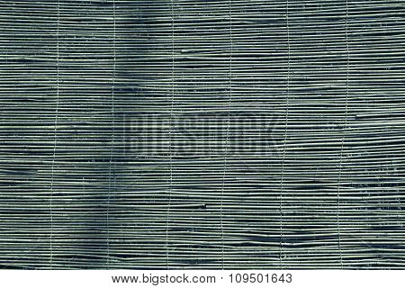 Curtain Or Screen From A Reed Of Green Color