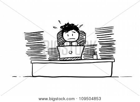 Businessman Busy Doing Paperwork