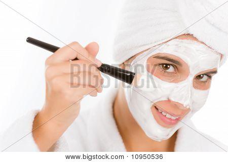 Teenager Problem Skin Care - Woman Facial Mask