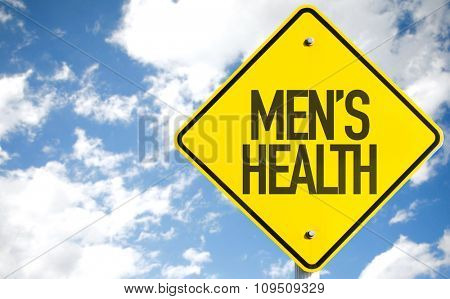 Mens Health sign with sky background