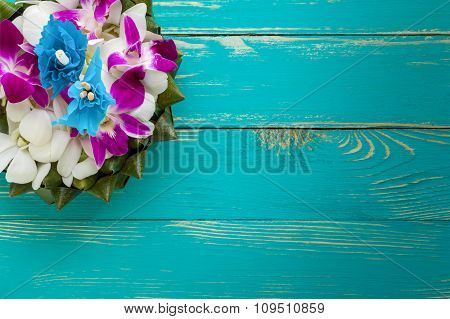 Flower Background Of Thai Krathong