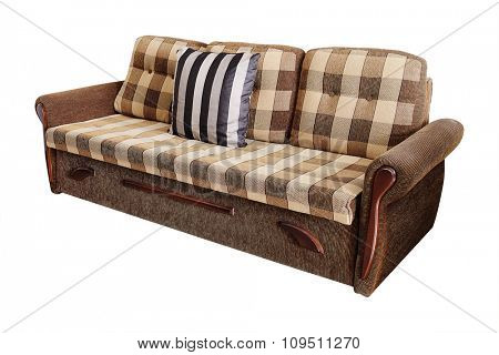 Sofa couch isolated on white