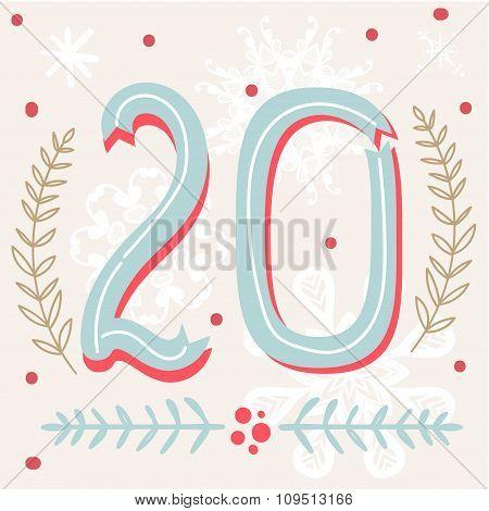 Cute Colorful Christmas Advent Calendar.