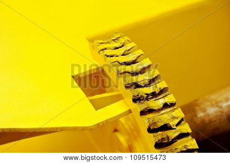 Industrial Yellow Gear With Grease