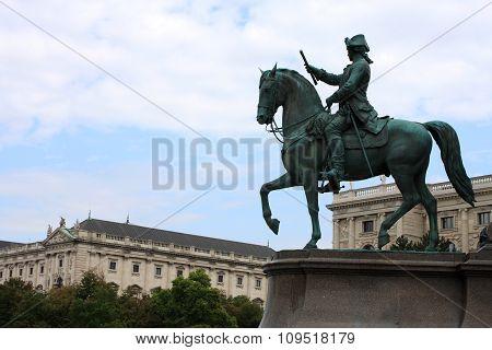Maria Theresa Monument At Maria Theresien Platz, Vienna, Austria
