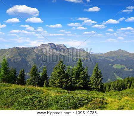 Mountain Casanna and Weissfluhjoch - Switzerland