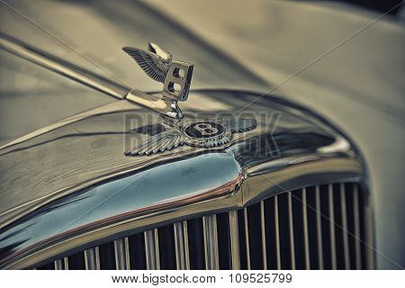 Sleza, Poland, August 15, 2015: Close Up On Bentley Sing On  Motorclassic Show On August 15, 2015 In