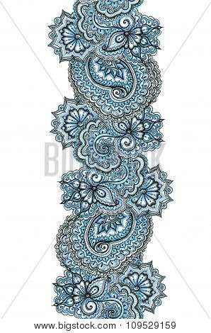 Marker painted ornate border. Repeating ornamental frame