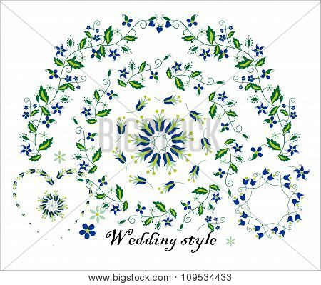 Floral ornament for wedding decoration