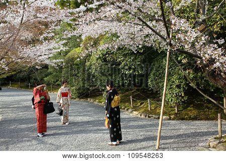 Women In Japanese Costume