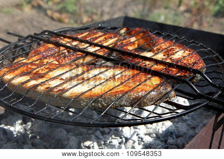 Fried Fish On The Grill