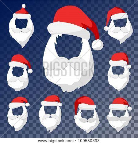 Portrait Santa Claus face cut mask silhouette