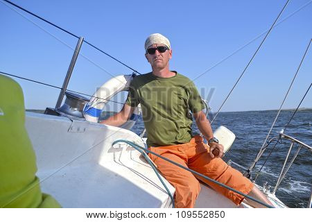 Man On A Yacht