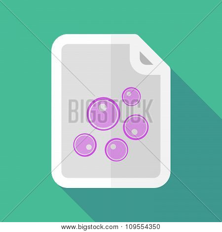 Long Shadow Document Vector Icon With Oocytes