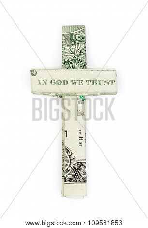 Dollar Origami Cross