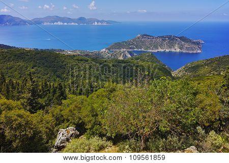 Amazing Landscape of Assos village and beautiful sea bay
