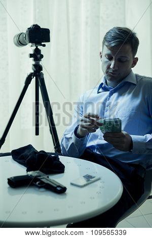 Hitman Counting Money