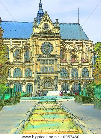 Paris Illustration, Saint Eustache Church